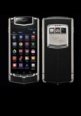 Vertu Ti Black Leather Mới 100% Fullbox