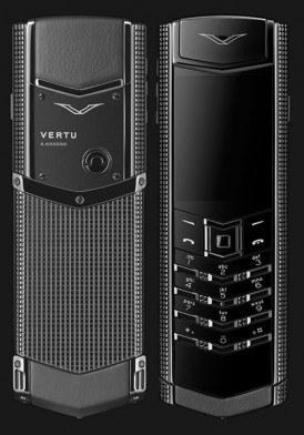 Vertu Signature S Clous de Paris Stainless Steel Black Mới 100% Fullbox
