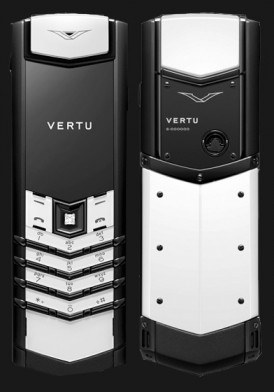Vertu Signature S Black PVD, White Ceramic, Diamond Key, Black Leather Mới 100% Fullbox