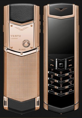 Vertu Signature S Clous de Paris Rose Gold Mới 100% Fullbox