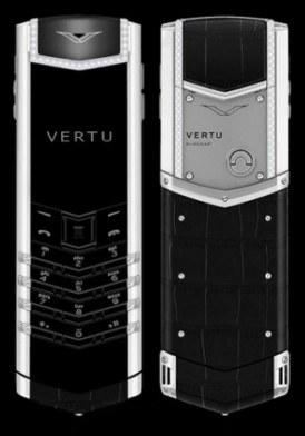 Vertu Singature S Sapphire Keys, Diamond trim, Black Alligator skin Mới 100% Fullbox