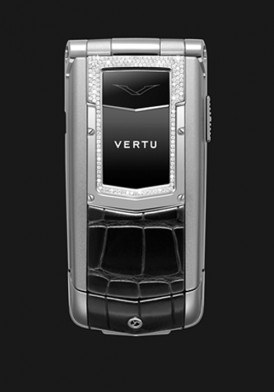 Vertu Ayxta Black Alligator Diamond Trim Ceramic Keys Mới 100% Fullbox