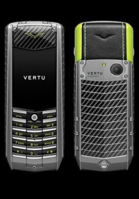 Vertu Ascent Titanium, Carbon Fibre, Black And Green Leather Mới 100% Fullbox