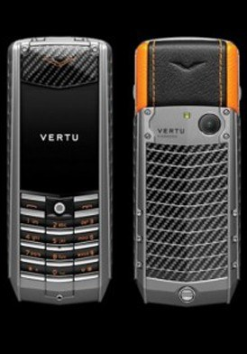 Vertu Ascent Titanium, Carbon Fibre, Black And Orange Leather Mới 100% Fullbox