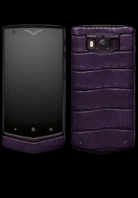 Vertu Extraordinary Pure Plum Alligator mới 100% Fullbox