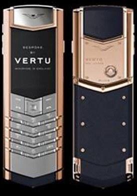 Vertu Signature Red Gold Handset Navy Blue Alligator mới 100% fullbox