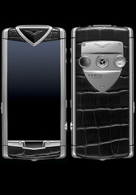 Vertu Touch Black Polised Stainless Steel Black Alligator Đã Sử Dụng