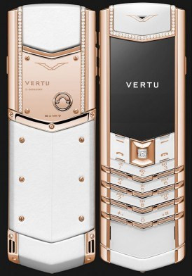 Vertu Signature Pure White Red Gold Diamonds Đã Sử Dụng