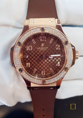 Hublot Big Bang Cappucino Gold Diamonds 38mm Đã Sử Dụng