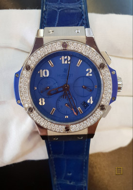 Hublot Big Bang Chronograph Blue Diamonds 41mm Đã Sử Dụng