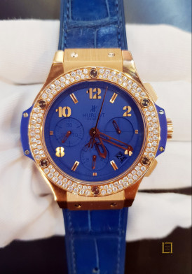 Hublot Big Bang Tutti Frutti Gold Dark Blue Diamonds 41mm Mới 100%
