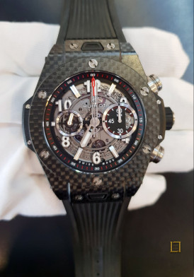 Hublot Big Bang Unico Carbon Skeleton Mens Ceramic 45mm Đã Sử Dụng