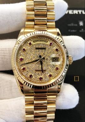 Rolex vang khoi mặt kim cương 36mm