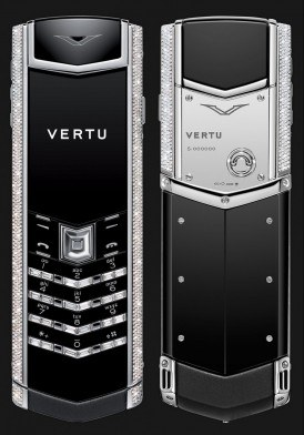 Vertu Signature S White Gold Diamond Bag Keys Mới 100% Full Box