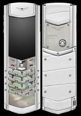 Vertu Signature S White Mother of Pearl Mới 100% Fullbox