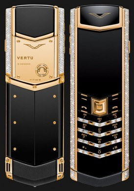 Vertu Signature S Yellow Gold Diamond Bag Keys Mới 100% Full Box