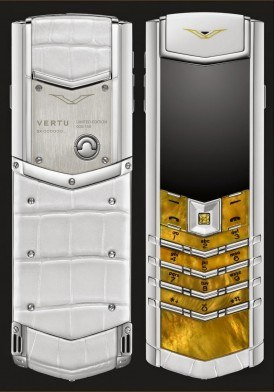 Vertu Signature S Yellow Mother of Pearl Mới 100% Fullbox