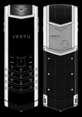 Vertu Singature S Sapphire Keys, Diamond trim, Black Alligator skin Mới 100% Fullbox