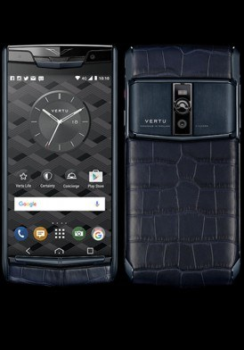 Vertu New Signature Touch Pure Navy Alligator Mới 100% Fullbox