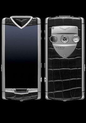 Vertu Constellation T Black Alligator Skin, Diamond Trim Mới 100% Fullbox