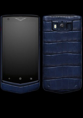Vertu Extraordinary Pure Navy Alligator mới 100% Fullbox