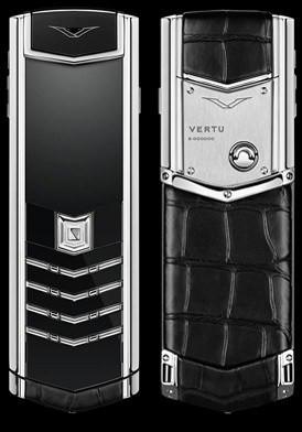 Vertu Signature Black Alligator Stainless Steel Đã Sử Dụng