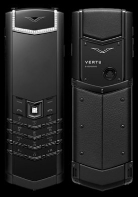 Vertu Signature S Pure Black Diamonds Mới 100% Full Box