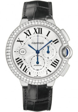 Cartier Ballon Bleu Chrono White Gold Diamond 46mm