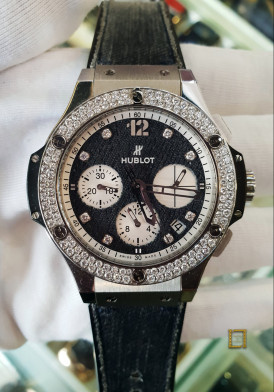 Hublot Big Bang Glossy Jeans Diamonds 41mm Đã Sử Dụng