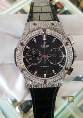 Hublot Classic Fusion Chonograph Titanium Diamonds 45mm Mới 100%