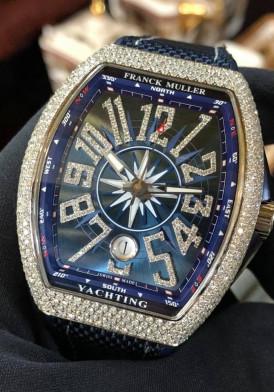 Franck Muller V41 Yachting Diamond New Full Box