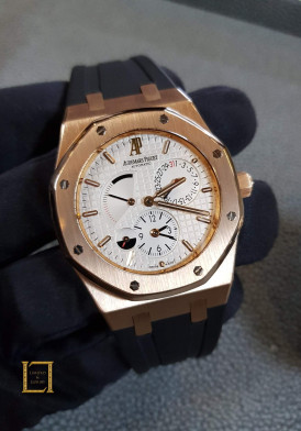 Audermars Piguet Rose Gold Royal Oak Dual Time Ref 39mm