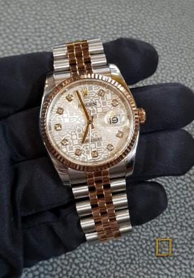 Rolex 116231 Mặt Vi Tính Vàng Hồng Like New