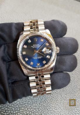 Rolex 116234 Mặt Xanh Cọc Số Kim cương