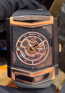 Vertu Watch Black Mix Rose Gold New 100% Full Box
