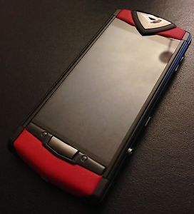Vertu Touch Pure Black Red Leather